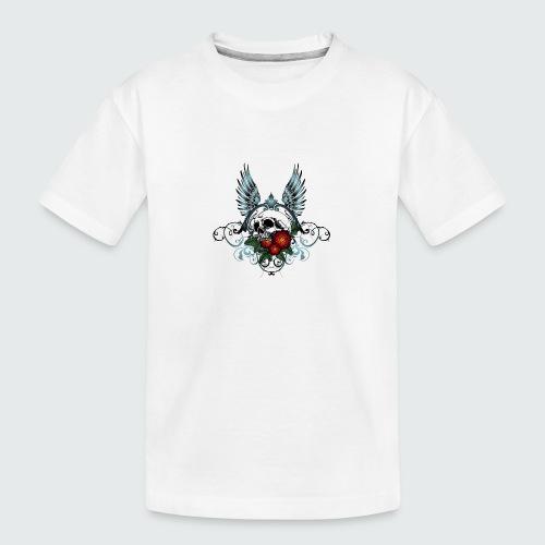 Skull Rose & Wing - Maglietta ecologica premium per ragazzi