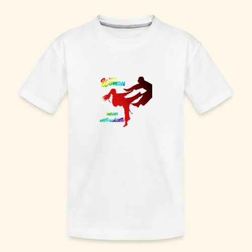 woman mean unbreakable - Maglietta ecologica premium per ragazzi