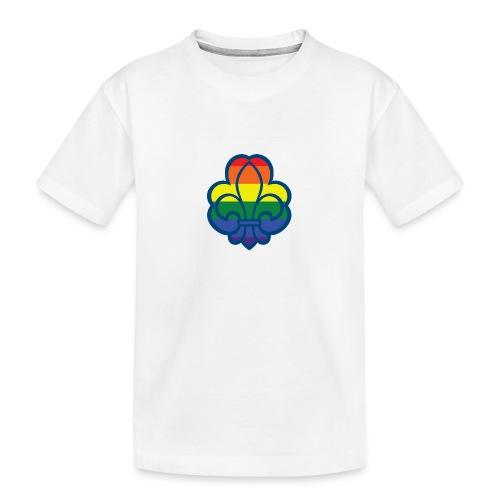 Regnbuespejder hvide t-shirts - Teenager premium T-shirt økologisk