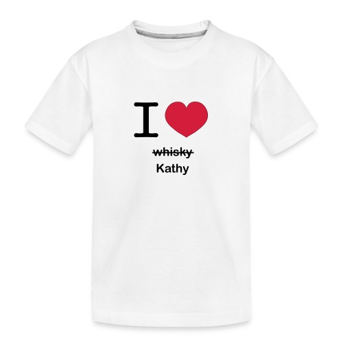 ilovekathy - Teenager premium biologisch T-shirt
