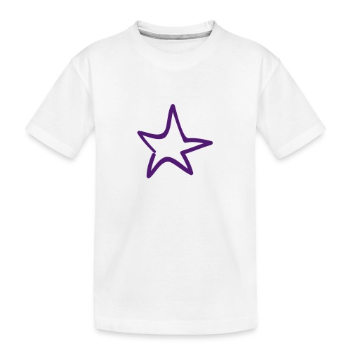 Star Outline Pixellamb - Teenager Premium Bio T-Shirt