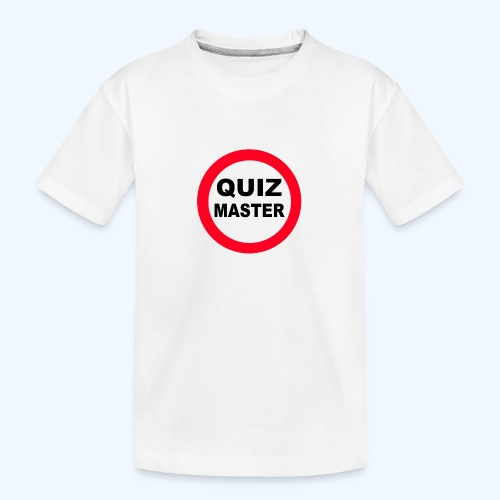 Quiz Master Stop Sign - Teenager Premium Organic T-Shirt