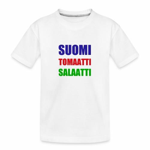 SUOMI SALAATTI tomater - Premium økologisk T-skjorte for tenåringer
