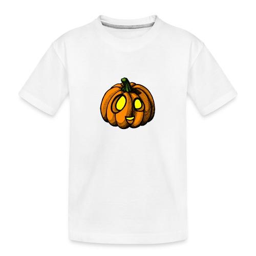 Pumpkin Halloween scribblesirii - Teenager premium T-shirt økologisk