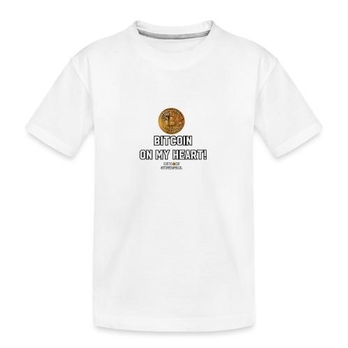 Bitcoin on my heart! - Maglietta ecologica premium per ragazzi