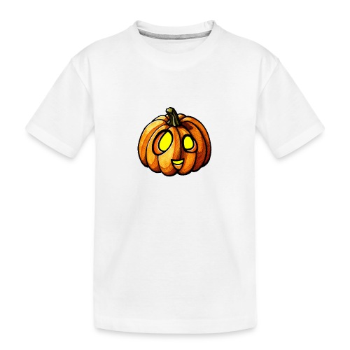 Pumpkin Halloween watercolor scribblesirii - Teenager premium T-shirt økologisk