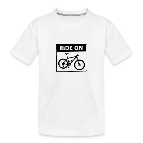 Ride On MTB 1 Color - Teenager Premium Bio T-Shirt