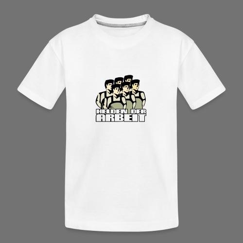 Heroes of työtä - Teinien premium luomu-t-paita