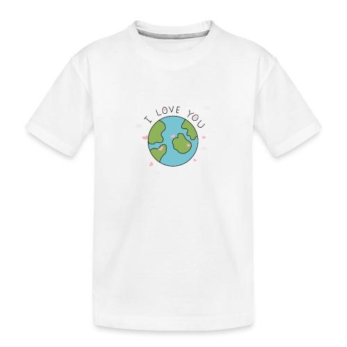 iloveyou - Maglietta ecologica premium per ragazzi