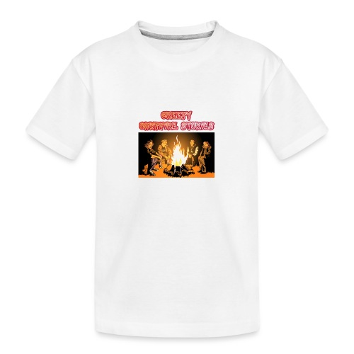 Campfire Shirt Front png - Teenager Premium Bio T-Shirt