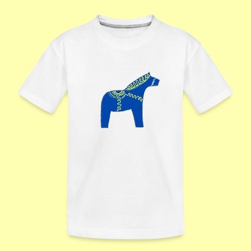 Dala by Pinni Art® blue - Teenager Premium Bio T-Shirt