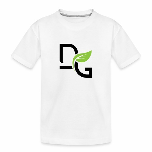 DrGreen Logo Symbol schwarz grün - Teenager Premium Bio T-Shirt