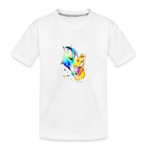 Jument et son poulain - T-shirt bio Premium Ado