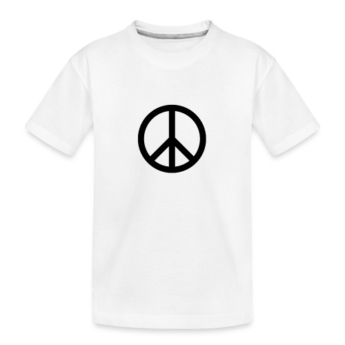 Peace Teken - Teenager premium biologisch T-shirt