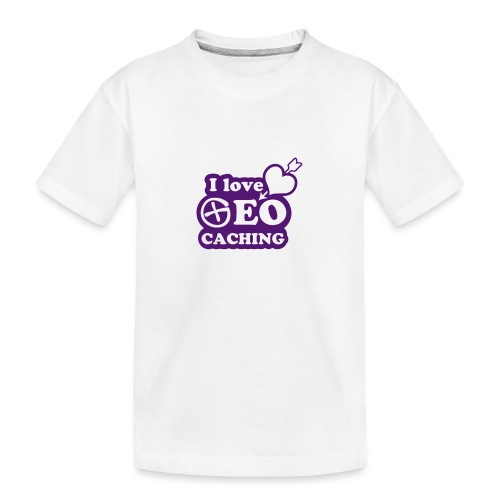 I love Geocaching - 1color - 2011 - Teenager Premium Bio T-Shirt