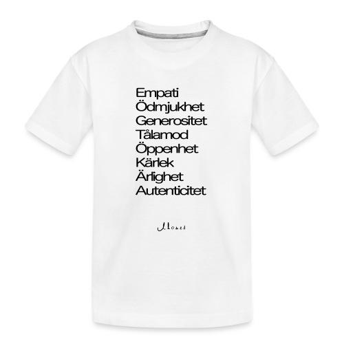 Egenskaper lista - Teenager Premium Organic T-Shirt