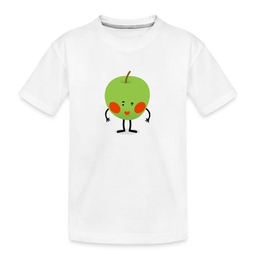 Happy Apfel - Teenager Premium Bio T-Shirt