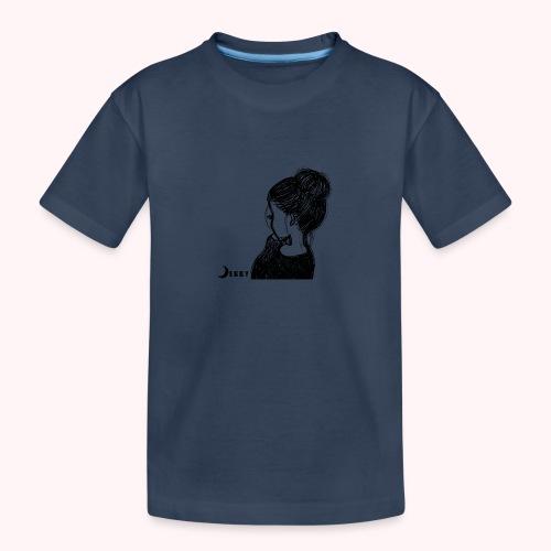 FALL BUN HAIR - 🍂COLLEZIONE AUTUNNALE by DEBBY🍁 - Maglietta ecologica premium per ragazzi