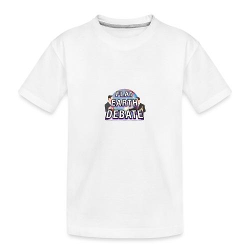 Flat Earth Debate - Teenager Premium Organic T-Shirt