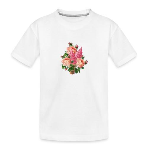 bouquet di fiori e gelati - Maglietta ecologica premium per ragazzi