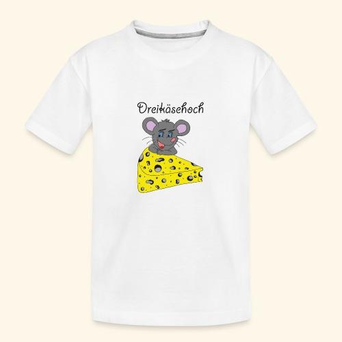 Dreikäsehoch - schwarze Schrift - Teenager Premium Bio T-Shirt