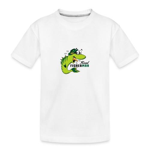 10-38 REAL FISHERMAN - TODELLINEN KALASTAJA - Teinien premium luomu-t-paita