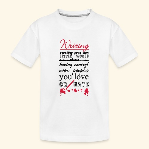 Writing - Teenager Premium Organic T-Shirt