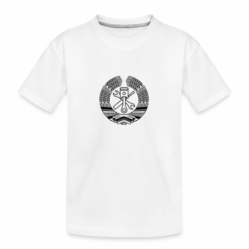 DDR Tuning Coat of Arms 1c (+ Your Text) - Teenager Premium Organic T-Shirt
