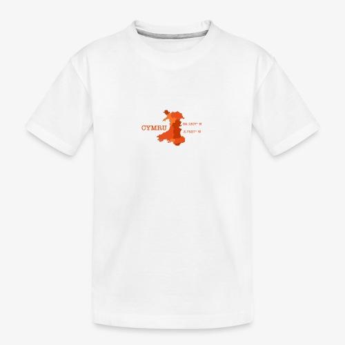 Cymru - Latitude / Longitude - Teenager Premium Organic T-Shirt