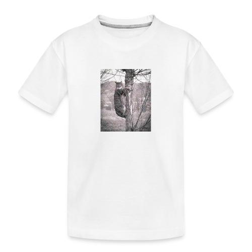 Grumpy Koala Katze im Baum - Teenager Premium Bio T-Shirt