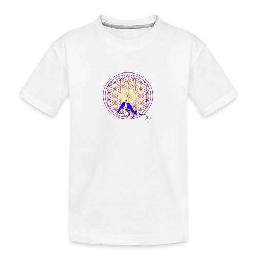 fleur de vie oiseau n°2 - T-shirt bio Premium Ado