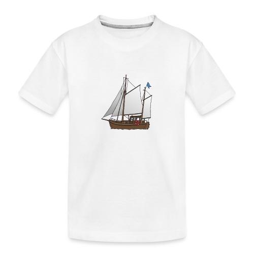 Segelboot Kutter - Teenager Premium Bio T-Shirt