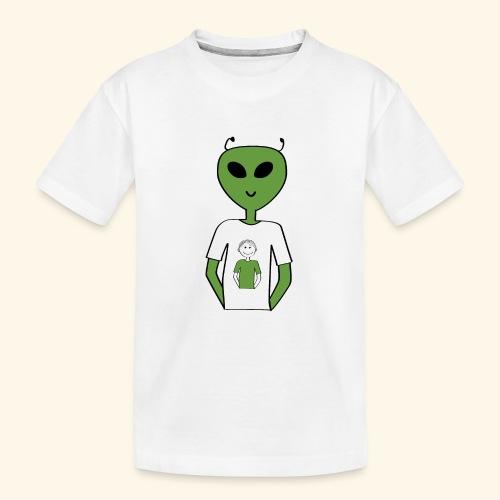 Alien human T shirt - Ekologisk premium-T-shirt tonåring