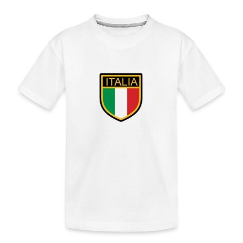 SCUDETTO ITALIA CALCIO - Maglietta ecologica premium per ragazzi
