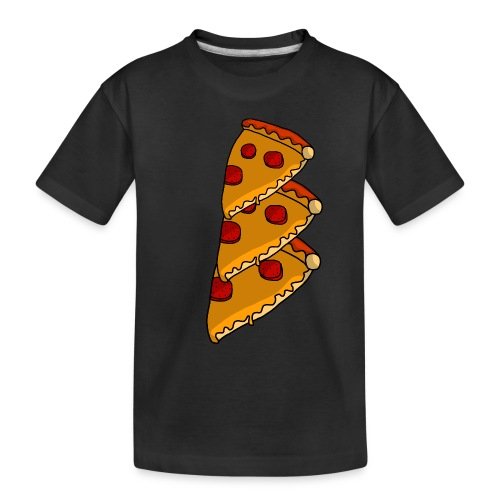 pizza - Teenager premium T-shirt økologisk
