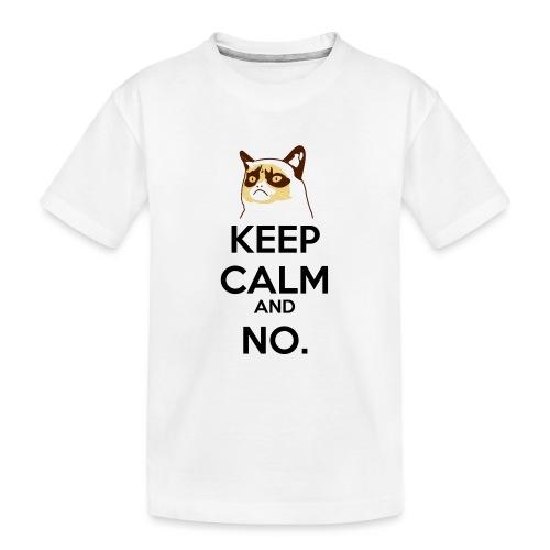 Grumpy Cat Keep Calm - Maglietta ecologica premium per ragazzi