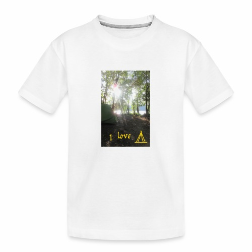 camping - Teenager premium biologisch T-shirt