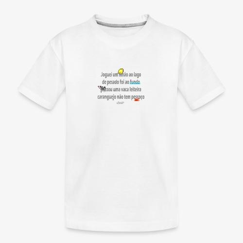 Versinho de infancia - Teenager Premium Organic T-Shirt
