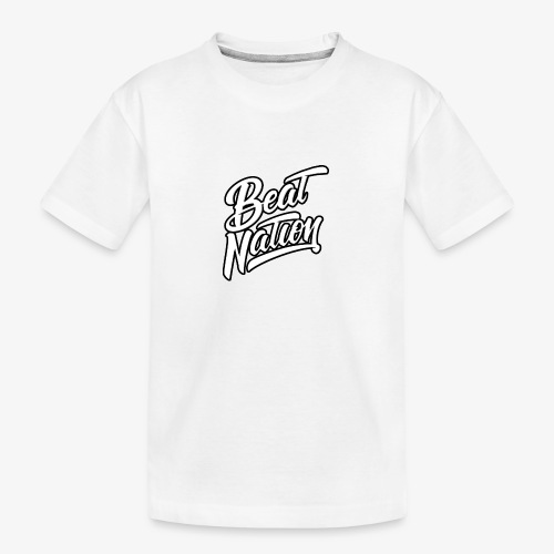 Logo Officiel Beat Nation Blanc - Teenager Premium Bio T-Shirt