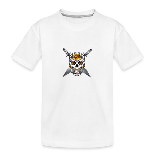 Cross skull swords - T-shirt bio Premium Ado