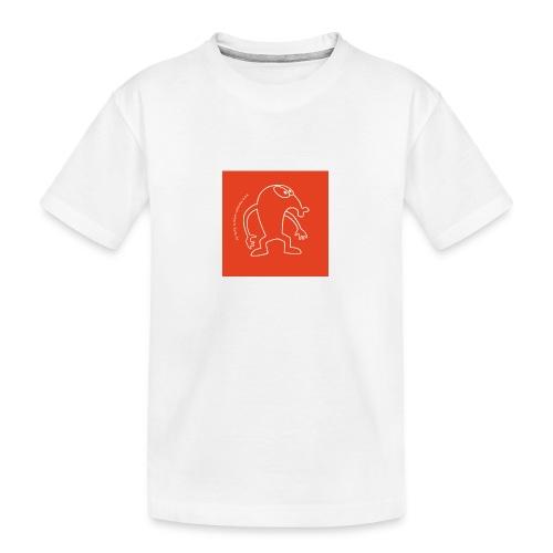 button vektor rot - Teenager Premium Bio T-Shirt