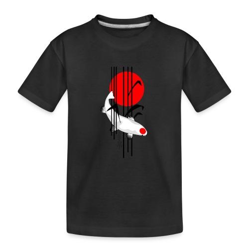 Bamboo Design - Nishikigoi - Koi Fish 5 - Teenager Premium Bio T-Shirt