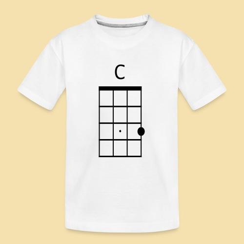 Ukulele C-Dur Akkordklein - Teenager Premium Bio T-Shirt