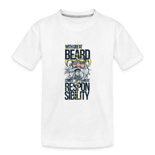 Beard - Ekologisk premium-T-shirt tonåring
