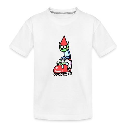 El gnomo en el patín - Camiseta orgánica premium adolescente