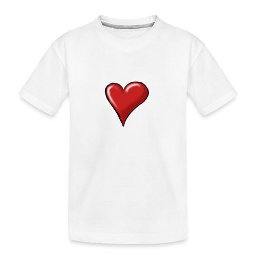 Love (coeur) - T-shirt bio Premium Ado