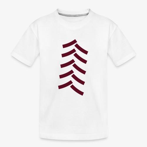 tractor spoor, bandenspoor - Teenager premium biologisch T-shirt