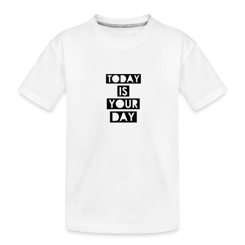 Official Design Kompas Today is your day - Teenager premium biologisch T-shirt