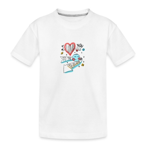 I love you to the moon 2 - T-shirt bio Premium Ado
