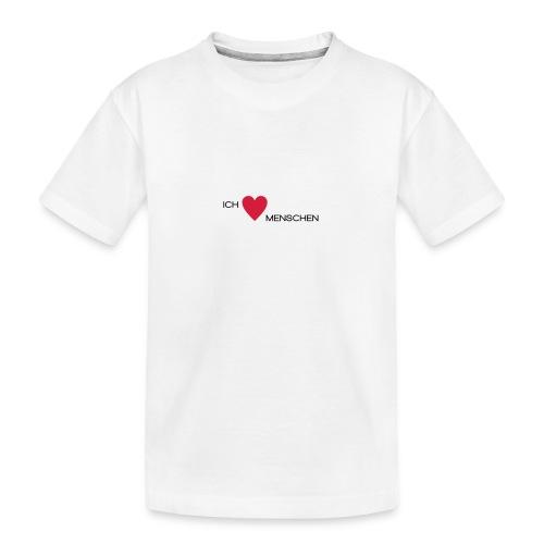 Ich liebe Menschen - Teenager Premium Bio T-Shirt